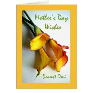 Omiのオランダカイウユリのための母の日 カード