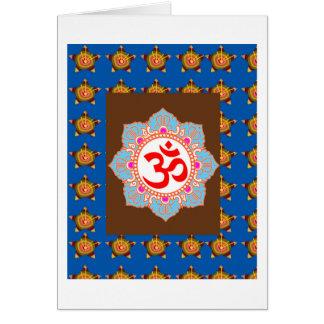 OmMANTRAの信念の芸術の寺院のヒンズー教の仏教は賛美します カード