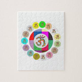 OmMantra OMの信念の硬貨のデザイン ジグソーパズル