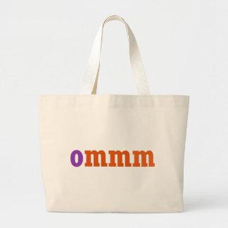 Ommmの黙想のデザイン ラージトートバッグ