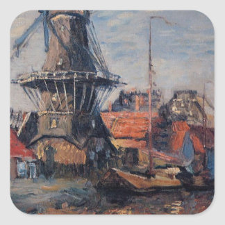 Onbekende運河の風車、アムステルダム スクエアシール