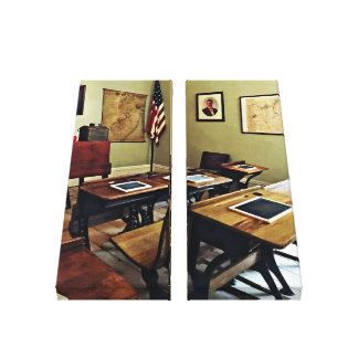 One Room Schoolhouse in New Jersey キャンバスプリント