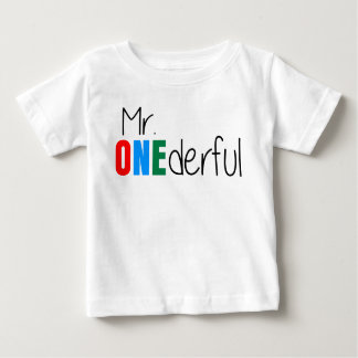 Onederful Wonderful氏の子供の誕生日のTシャツ ベビーTシャツ