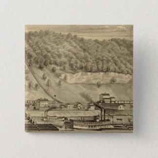 O'Neilの石炭の仕事およびCompany 5.1cm 正方形バッジ