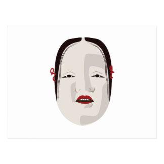 Onna人のマスク ポストカード