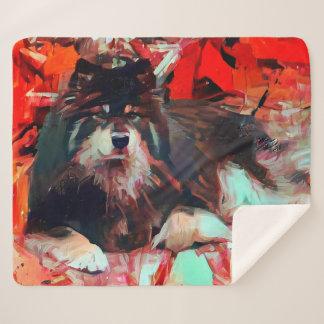 ONNIフィンランドのLapphundのsherpa毛布3のサイズ シェルパブランケット