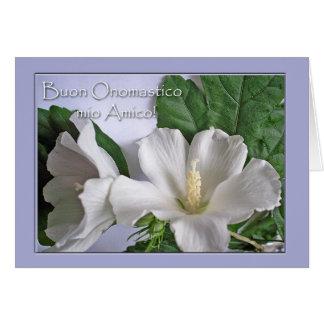Onomastico、友人のためのイタリアンな聖名祝日 カード