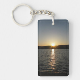 Onota湖の日没: 縦 キーホルダー