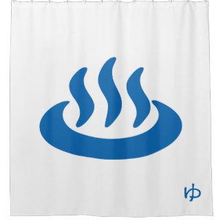 Onsenの♨の温泉の温泉の日本人の印 シャワーカーテン
