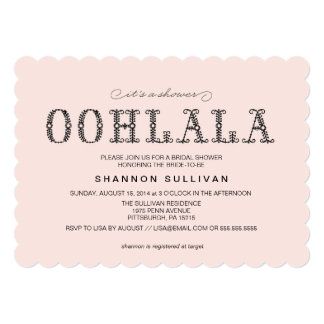 OohのLaのLaのブライダルシャワーの招待 カード