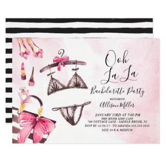 OohのLaのLaのランジェリーのバチェロレッテの招待状 カード