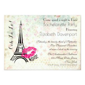 OohのLaのLaパリ夜バチェロレッテの招待 カード