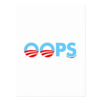 Oopsオバマの間違い ポストカード