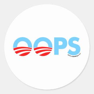 Oopsオバマの間違い ラウンドシール