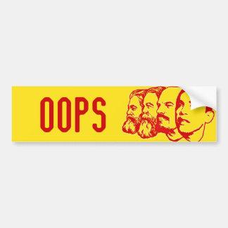 OOPSバンパーステッカー バンパーステッカー