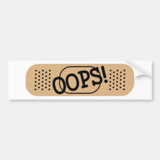 OOPS! バンパーステッカー