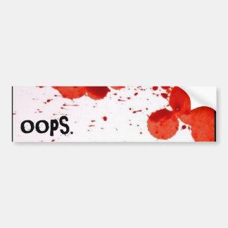 OOPS 1 バンパーステッカー