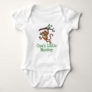 Opaの小さい猿 ベビーボディスーツ