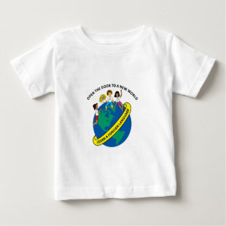 Opend新しい世界のベビーのワイシャツへのドア ベビーTシャツ