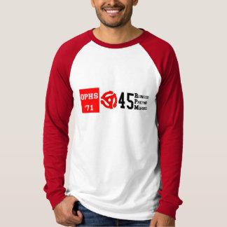 OPHS 「71の45のrpmの人のキャンバスの長袖のRaglan T Tシャツ