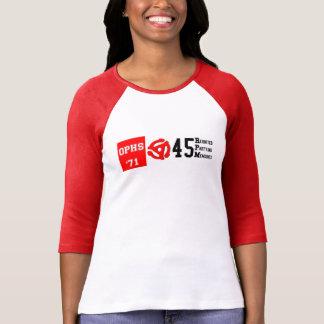 OPHS 「71人の45rpm女性のBella 3/4の袖のRaglan T Tシャツ