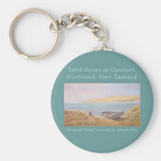 OpononiのNorthland、ニュージーランドの砂丘 キーホルダー