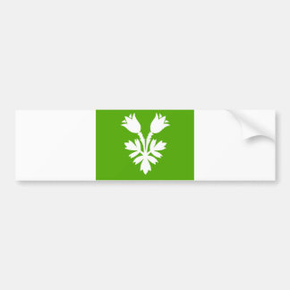 Opplandの旗のノルウェーの地域郡 バンパーステッカー