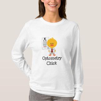 Optometryのひよこのフード付きスウェットシャツ Tシャツ