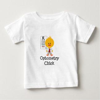 Optometryのひよこの乳児のTシャツ ベビーTシャツ