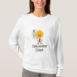 Optometryのひよこの長袖のティー Tシャツ