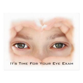 Optometryの目検査のアポイントメントのメモ ポストカード