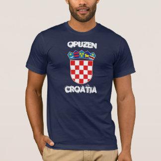 Opuzen、紋章付き外衣が付いているクロアチア Tシャツ