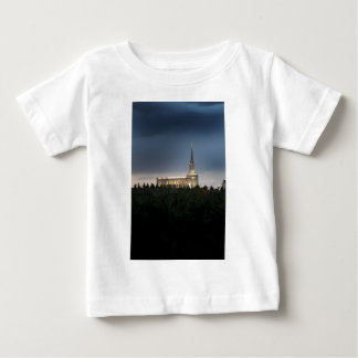 oquirrh山のldsのユタの寺院 ベビーTシャツ