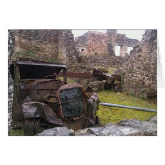 Oradour Sur Glaneの断念された車 カード