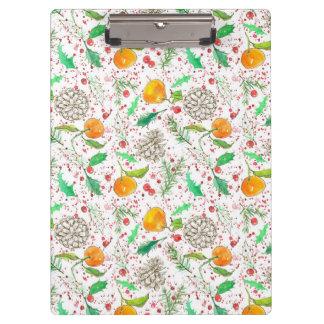 Orange Clementine Cranberry Pine Cone Custom Name クリップボード