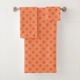Orange Polka Dot Towel Set バスタオルセット