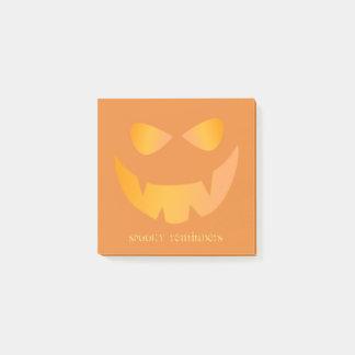 Orange Pumpkin Spooky Reminders Post-it® Notes ポストイット
