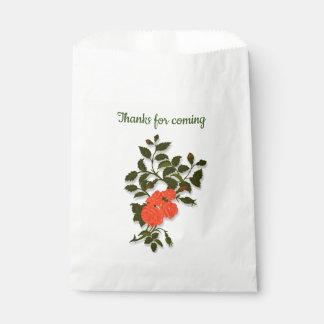 "Orange Rose ""Thanks for coming"" フェイバーバッグ"
