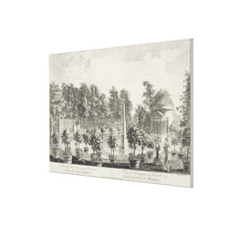 Orangery、バーリントン主の庭aの眺め キャンバスプリント