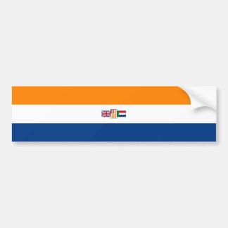 Oranje Blanje Blouの南アフリカの旗(1928-1994年) バンパーステッカー