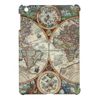 Orbis Terrarum 1594年-有名な世界地図 iPad Miniケース