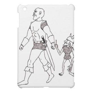 Orcおよび小悪魔(または金ゴールド並ぶ) iPad Miniカバー