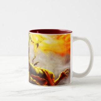 Orc対ドラゴンのマグ ツートーンマグカップ
