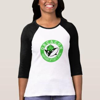 OrcaConの女性ロゴのRaglanのワイシャツ Tシャツ