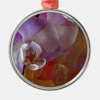Orchideliaの豪華な蘭の抽象芸術 メタルオーナメント