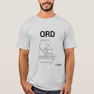 ORD空港レイアウトのTシャツ Tシャツ