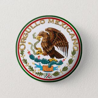 Orgullo Mexicano (メキシコ旗からのワシ) 5.7cm 丸型バッジ