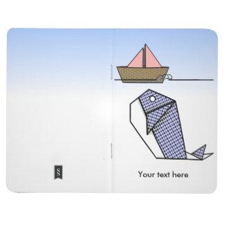 Origamiのかわいくアーガイル柄のなクジラ ポケットジャーナル