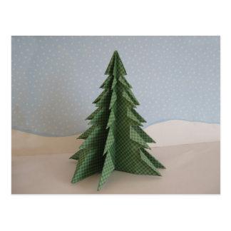 Origamiのクリスマスツリー ポストカード