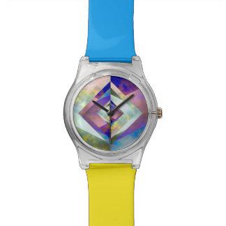 Origamiのスカイブルー及び黄色の腕時計 腕時計